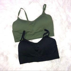 Gilligan & o'malley bras olive green & black small